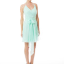 DC Short Simple and chic chiffon halter-top dress. The shorter wrap style creates a flattering silhouette while the sash helps define the waist. Spaghetti straps allow the halter-top to be easily adjusted. Variety of colors available