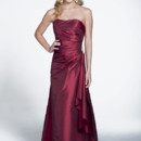 Check out this wrap waist on Style 22524! The taffeta material looks fabulous in this A-line silhouette and rhinestone embellishment at the waist.