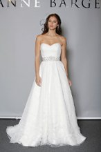Style: Anya Pleated tulle A-line gown with sweetheart strapless neckline.