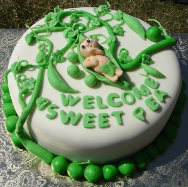 1217760761511 Babyinpeapodshowercakewithvinesandleaves Greenville wedding cake