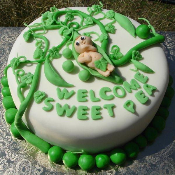 1217760761511 Babyinpeapodshowercakewithvinesandleaves Greenville wedding cake