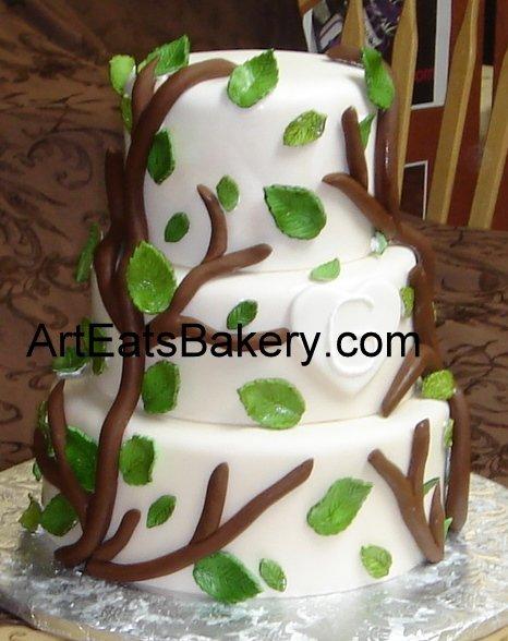 1308526727430 Threetierbranchesandleavescustomfondantweddingcake Greenville wedding cake