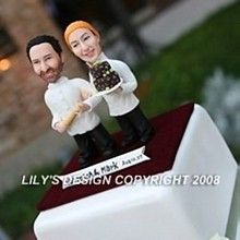 220x220 sq 1223739919950 wedding cake topper 250