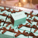 We offer a variety of Favor Boxes which can hold chocolates or macarons.