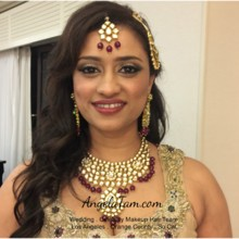 220x220 sq 1498680934131 1 indian wedding south asian bride bridal makeup a