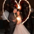 130x130 sq 1484586743262 16. bride and groom sparkler heart
