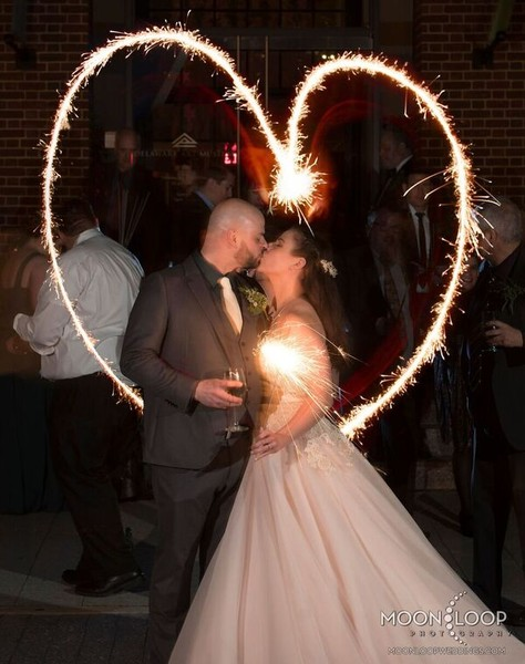 600x600 1484586743262 16. bride and groom sparkler heart