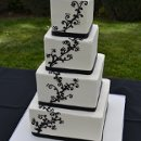 130x130 sq 1358895971331 blackfiligreeweddingcake