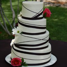 220x220 sq 1358896085676 blackandwhiteweddingcake