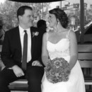 130x130 sq 1475072276246 bride and groom on bench black and white