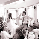 130x130 sq 1478533732630 bride and groom on chairs black and white