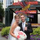 130x130 sq 1481034430240 bride and groom with directional sign