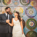 130x130 sq 1481904327340 bride and groom by mosaic wall