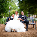 130x130 sq 1484148288185 bride and groom with son on bench