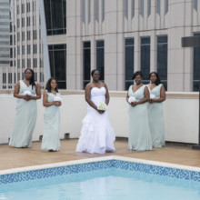 220x220 sq 1497290985039 bride with bridesmaids by the pool close up