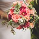 Dress Designer: DB Studio fromDavid's Bridal  Floral Designer:Camellia Wedding Flowers