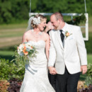 Venue: Mount Valley Farm  Dress Designer:Oleg Cassini from David's Bridal  Groom and Groomsmen Attire: Bell's Fine Clothing  Floral Designer: Robin McCall