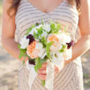 Bridesmaid Dresses: Adrianna Papell from Bloomingdale's  Floral Designer: Seasons Floral Design