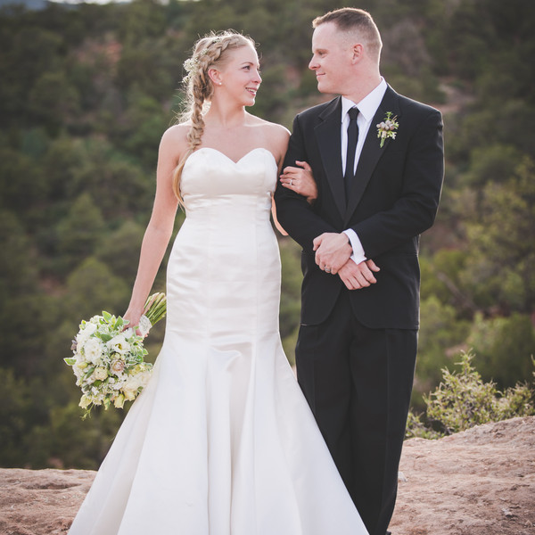 Venue: Garden of the Gods  Bride and Groom's Attire: Danelle's Bridal Boutique  Shoes: Doc Martens   Jewelry: Kay Jewelers  Hair and Makeup Artist: MUAH by J  Officiant: Lyssabeth's Wedding Officiants  Floral Designer: VIE Boutique and Floral Studio  Cake: Amy's Donuts   Video: JuneBug Productions