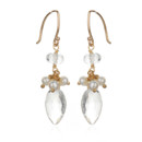 Amanda Rudey Marcie Earrings ~ Available in any combination of color gemstones and pearls you would like! Available in 18k vermeil, Sterling Silver or 14k Gold. 1 inch.