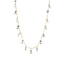 Amanda Rudey Marcie Necklace ~ Available in any combination of color gemstones and pearls you would like! Available in 18k vermeil, Sterling Silver or 14k Gold. Adjustable 18-20 inches.