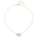 Amanda Rudey Jo Necklace ~ Sweet and simple, this necklace features one round bezel stone. Available in any color gemstone you would like! Available in 18k vermeil, Sterling Silver or 14k Gold. Adjustable 16-18 inches.