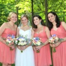 Gorgeous bride Joanna and her pretty maids in their Jo Necklaces in moonstone