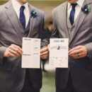 Groom and Groomsmen Attire: Men's Wearhouse  Stationery: Todd Studios