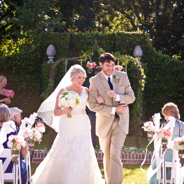 Venue: Pebble Hill Plantation  Event Planner: Pink Bee Events   Dress Designer: Enzoani from Vocelle's Bridal Shoppe  Bridesmaid Dresses: Jenny Yoo from Vocelle's Bridal Shoppe  Jewelry: The Gem Collection  Hair Stylist: Dream State Salon  Makeup Artist: Randi Buchanan  Groom and Groomsmen Attire: Jos. A. Bank  Officiant: Richard Jenks   Invitations: Lisa Samartino Design  Floral Designer: Missy Gunnels  Rentals: Andrew Tent Company  Caterer: The Black Fig   Cake: The Cake Shop  Band: Stranger Still
