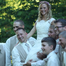 220x220 sq 1453234534551 heather with groomsmen