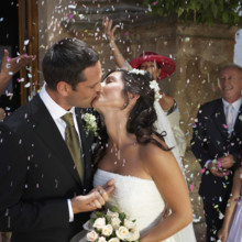 220x220 sq 1430103284253 bride  groom kiss