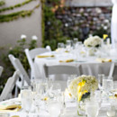 Reception Venue: Dove Canyon Courtyard  Floral Designer: Jenny B. Floral Design  Rentals: Signature Party Rentals
