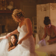 220x220 sq 1511894264350 bride getting ready with her bridesmaids in weddin