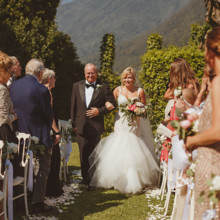 220x220 sq 1511894326539 bride and her father walking down the aisle lake c