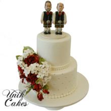220x220 sq 1432744082833 wedding cake with two scotts
