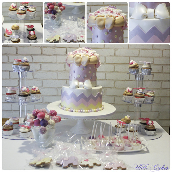 600x600 1414180820558 chevron baby shower dessert table