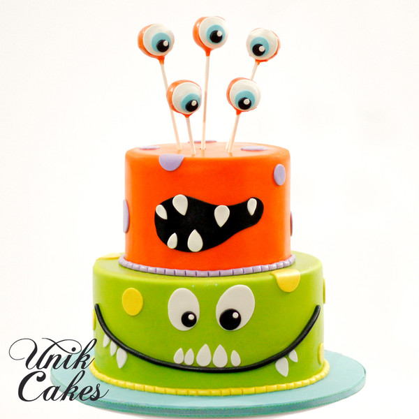 600x600 1420220252976 1st birthday cake   little monsters theme