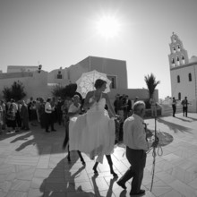 220x220 sq 1509558243384 ymvisuals   arriving at the church in santorini