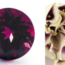 Rhodolite Garnet is also this years Pantone color of the year in Marsala. Beautiful with these Miniature Picasso Calla Lily.