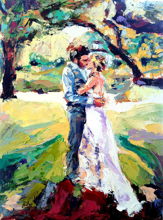 live wedding painting by derek russell unique services