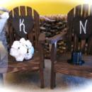 Rustic Adirondack Chairs Cake Topper