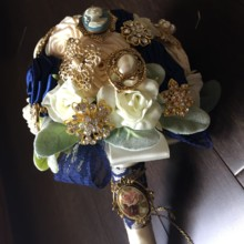 220x220 sq 1496096821067 brooch bouquet
