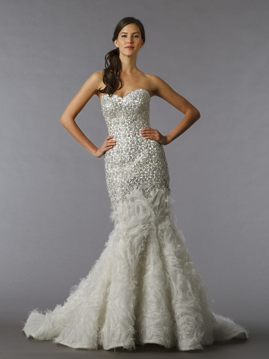 Pnina tornai for kleinfeld wedding dresses photos by for Kleinfeld mermaid wedding dresses