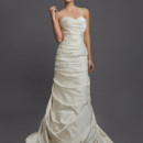 Style 32613028  This a-line gown features a sweetheart neckline with in satin. It has a chapel train. This gown is available in Plus Sizes, and is Exclusive to Kleinfeld Bridal.