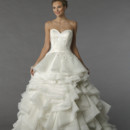 Style 74554  This ball gown features a sweetheart neckline with a natural waist in organza.