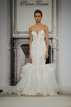 Style 33029380  This mermaid gown features a sweetheart neckline with a dropped waist in beaded lace. It has a chapel train. This gown is Exclusive to Kleinfeld Bridal.