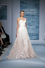 Style 116  Blush strapless gown over crème organza with blush embroidered detail