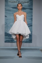 Style 119  Short beaded capped sleeve dress with chiffon full skirt and illusion back