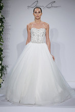 Style 14045  Ivory beaded and pearl embroidered bodice with tulle ball gown