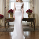 Style 8764 Luxe charmeuse straight dress accentuated with a Sabrina neckline